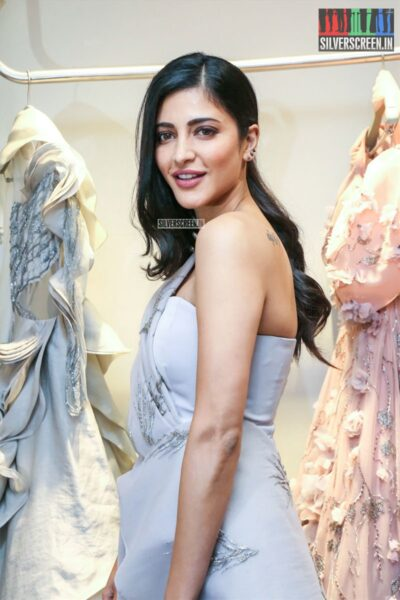 Shruti Haasan  At The Gaurav Gupta Store Launch In Hyderabad