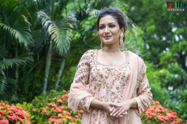 Catherine Tresa At The 'Aruvam' Press Meet
