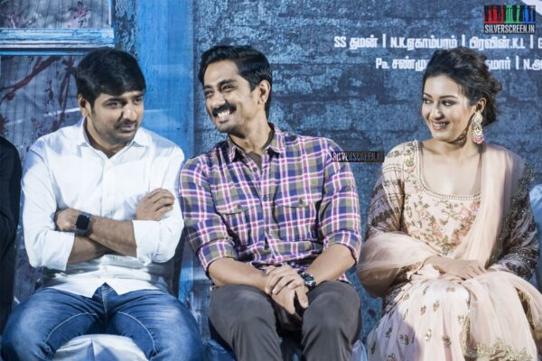 Catherine Tresa, Stahish, Siddharth At The 'Aruvam' Press Meet