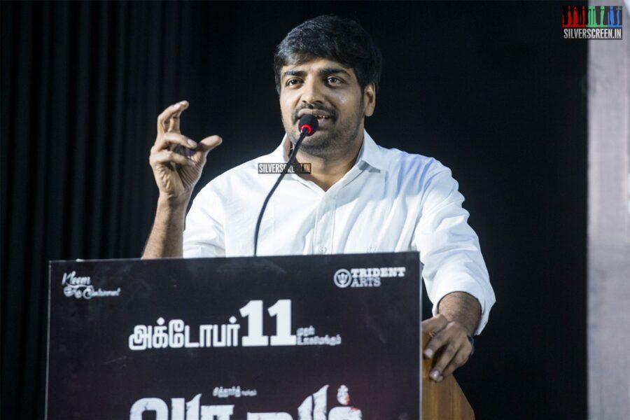 Sathish At The 'Aruvam' Press Meet