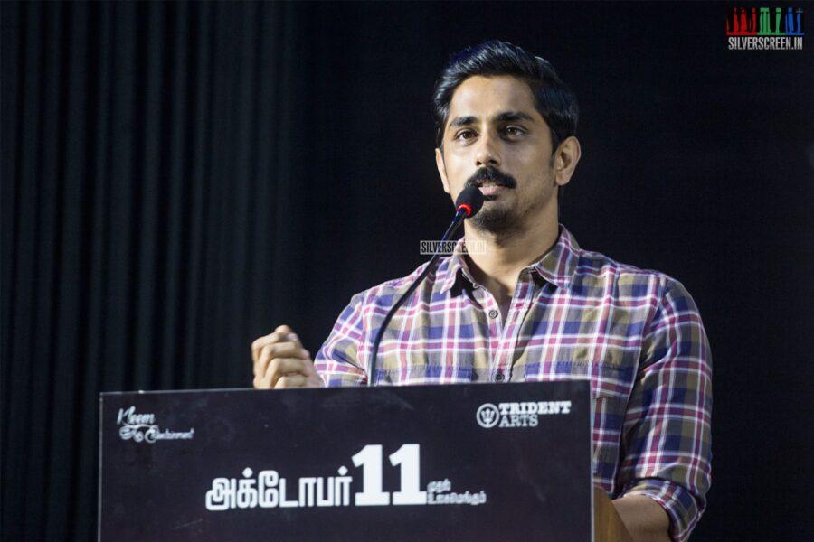Siddharth At The 'Aruvam' Press Meet
