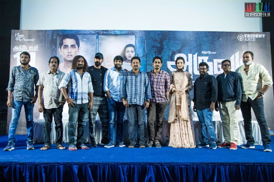 Celebrities At The 'Aruvam' Press Meet