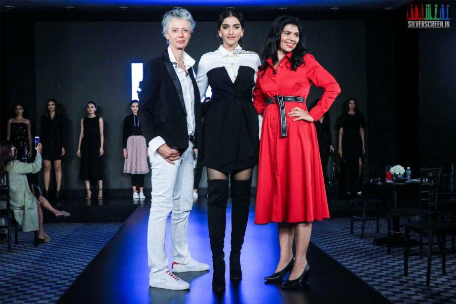 Sonam Kapoor Walks The Ramp For 'Karl Lagerfeld'