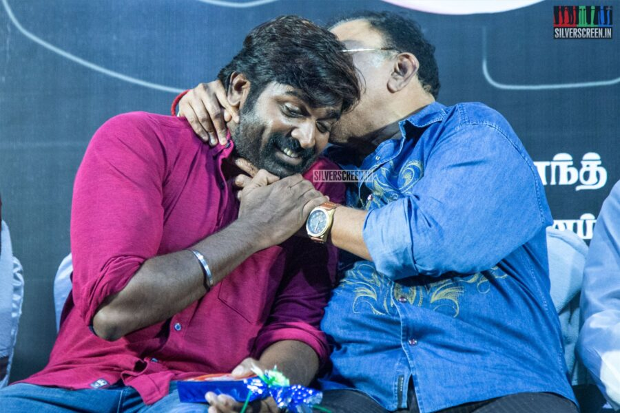Vijay Sethupathi, Radha Ravi At The 'Alti' Audio Launch