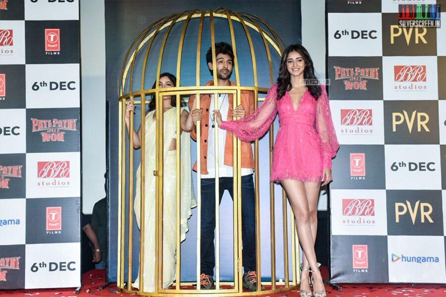 Ananya Panday, Bhumi Pednekar Promote 'Pati Patni Aur Woh'