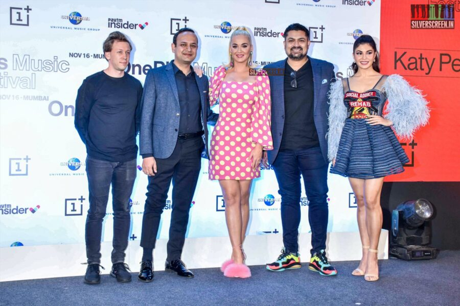 Katy Perry, Jacqueline Fernandez At 'One Plus Music Festival' Press Meet