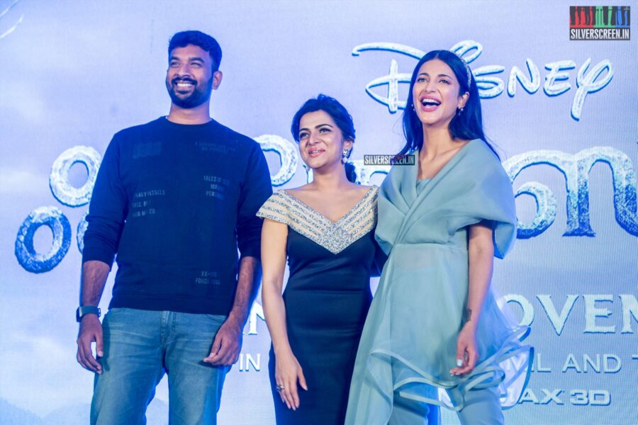 Shruti Haasan, Dhivyadharshini, Vivek At The 'Frozen 2' Press Meet