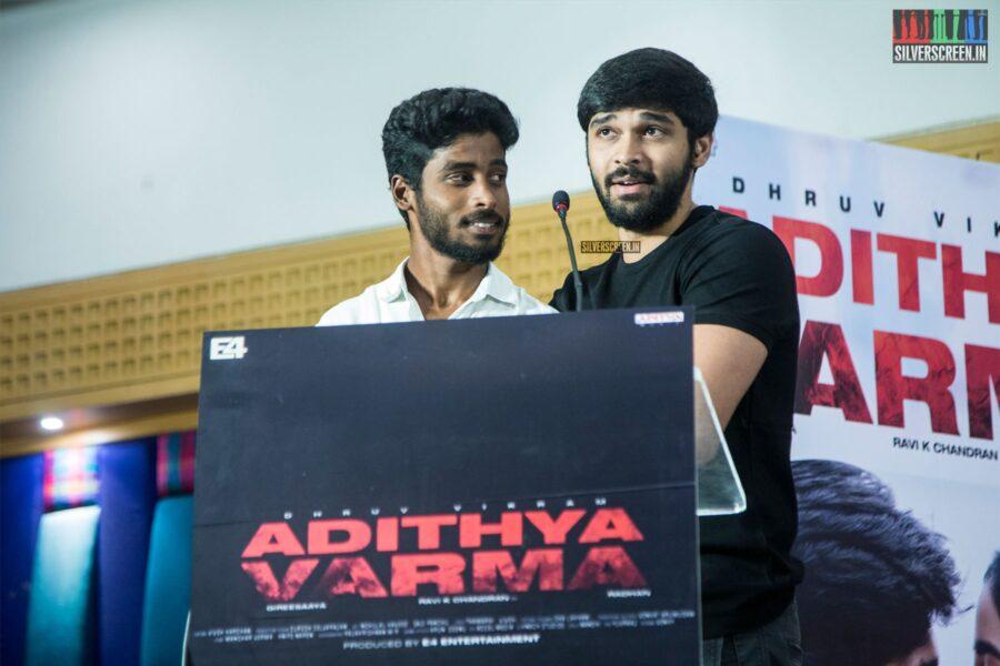 Dhruv Vikram At The 'Adithya Varma' Thanksgiving Meet