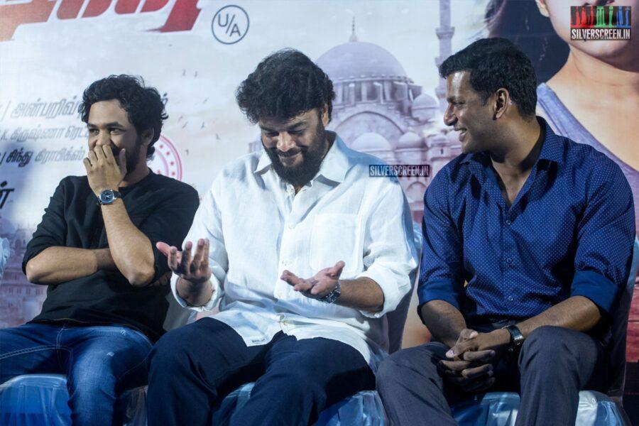 Sundar C, Vishal Krishna, Hiphop Tamizha At The 'Action' Press Meet