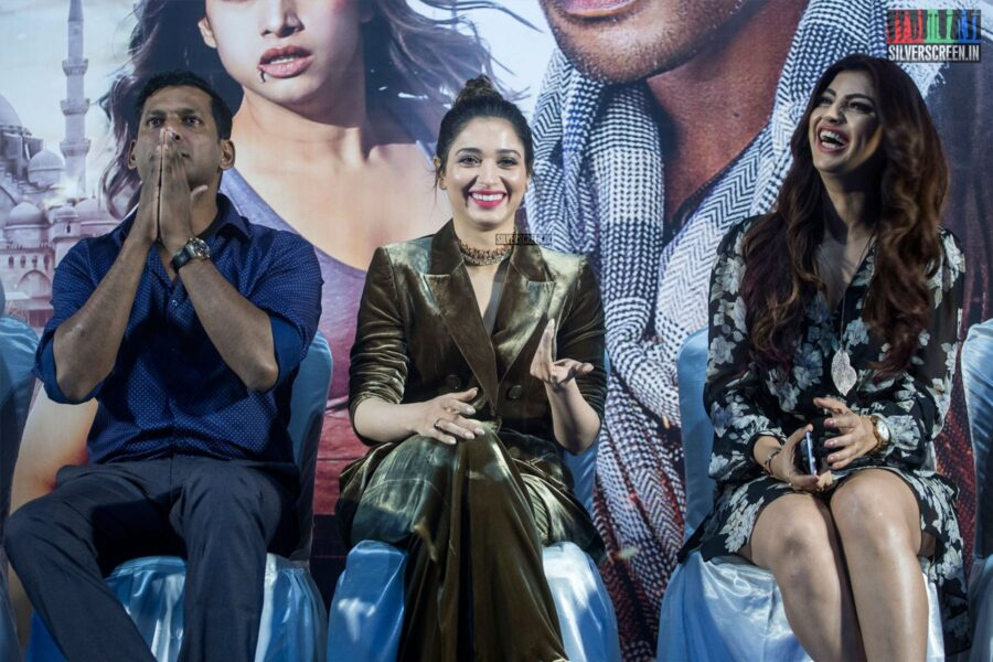 Tamannaah, Vishal At The 'Action' Press Meet