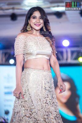 Sakshi Agarwal Walks The Ramp At 'Prawolion Fashion Week'