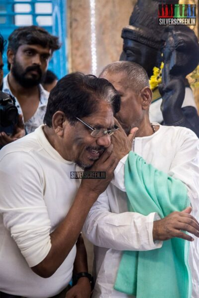Ilaiyaraaja, P Bharathiraja At The 'Thamezharasan' Audio Launch