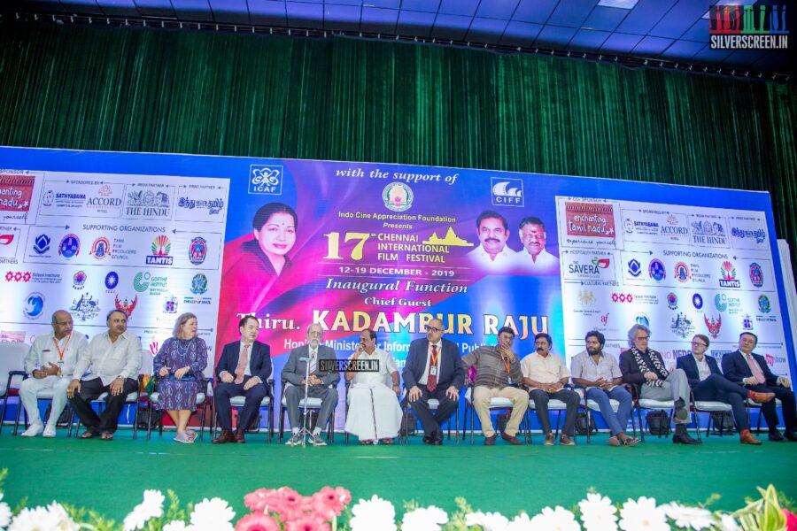 Charuhasan At The 17th Chennai International Film Festival Press Meet