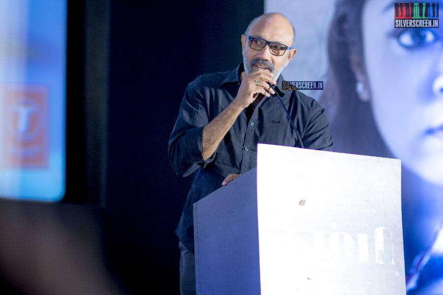 Sathyaraj At The 'Thambi' Audio Launch