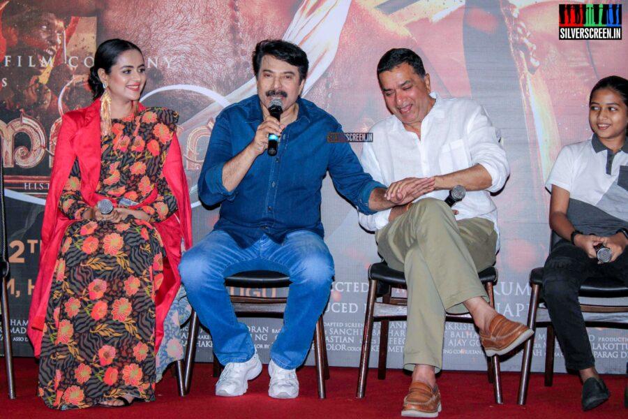 Mammootty, Prachi Tehlan At The 'Mamangam' Trailer Launch