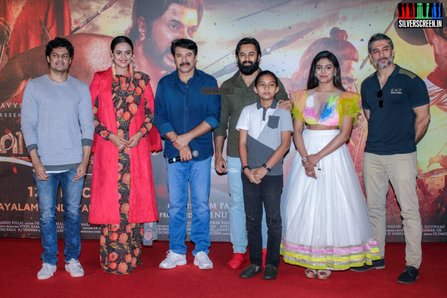 Mammootty, Prachi Tehlan At The 'Mamangam' Trailer Launch