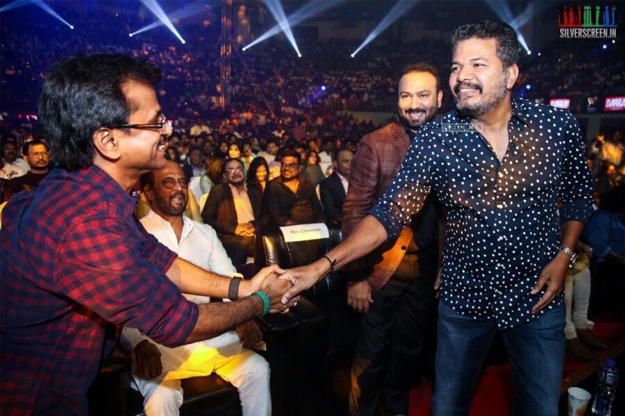 AR Murugadoss, Shankar At The 'Darbar' Audio Launch