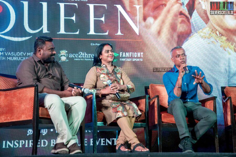 Gautham Menon, Viji Chandrasekhar At The 'Queen' Press Meet