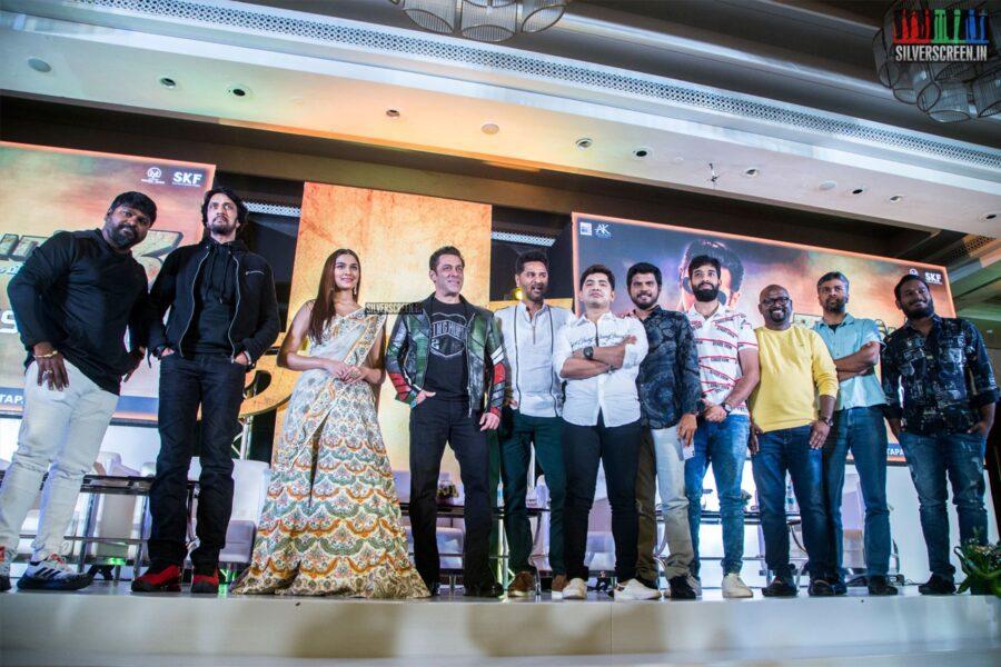 Salman Khan, Saiee M Manjrekar, Prabhu Deva At The 'Dabangg 3' Press Meet