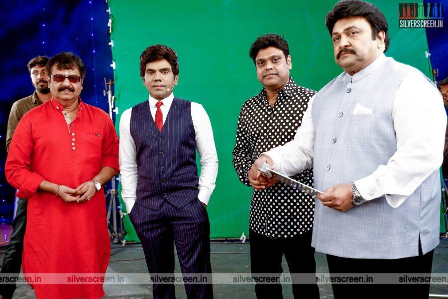 Saravanan, Prabhu, Vivek, Harris Jayaraj At The Legend New Saravana Stores Production No. 1 Movie Launch