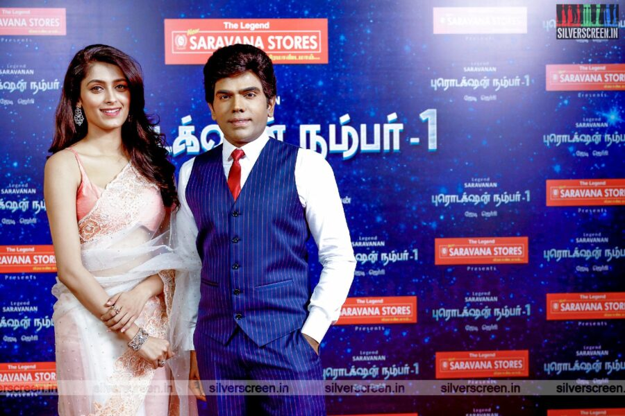 Saravanan, Geethika Tiwary At The Legend New Saravana Stores Production No. 1 Movie Launch