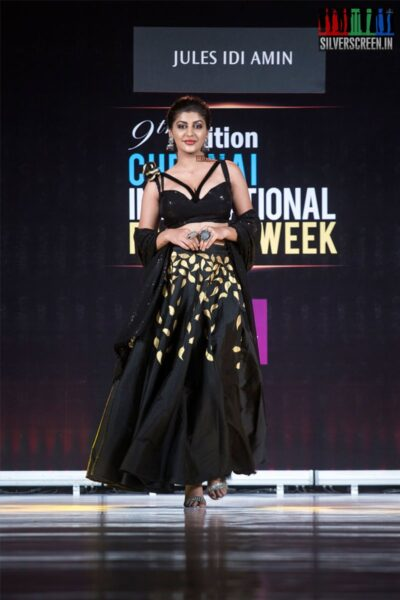 Yaashika Aanand Walks The Ramp At The 9th Edition of Chennai International Fashion Week 2019 - Day 2