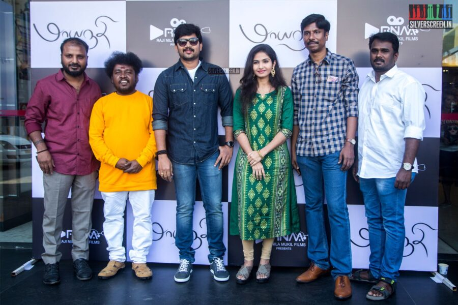 Abi Saravanan and Venba At The 'Maayanadhi' Audio Launch