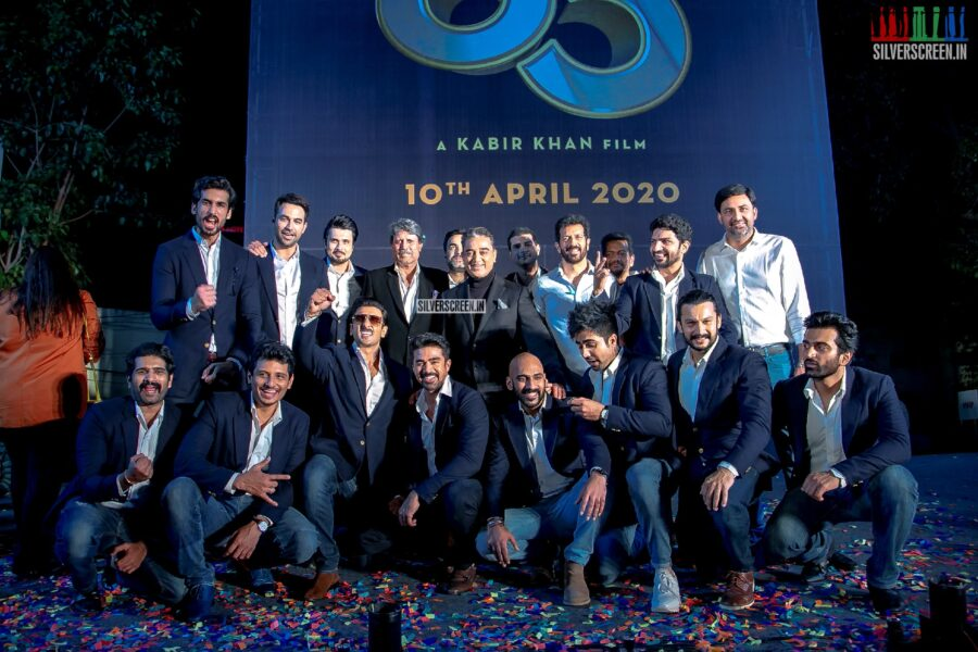 Jiiva, Kapil Dev, Srikkanth and Ranveer Singh At The First Look Launch Of '83'