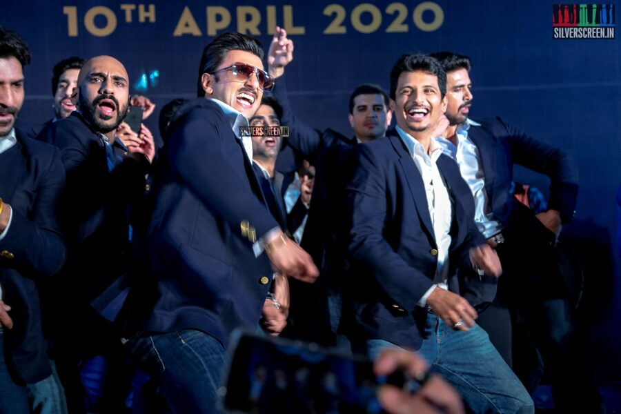 Jiiva and Ranveer Singh At The First Look Launch Of '83'