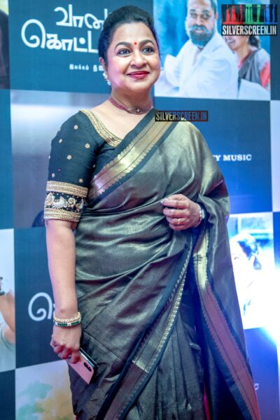 Radhika At The 'Vaanam Kottatum' Audio Launch