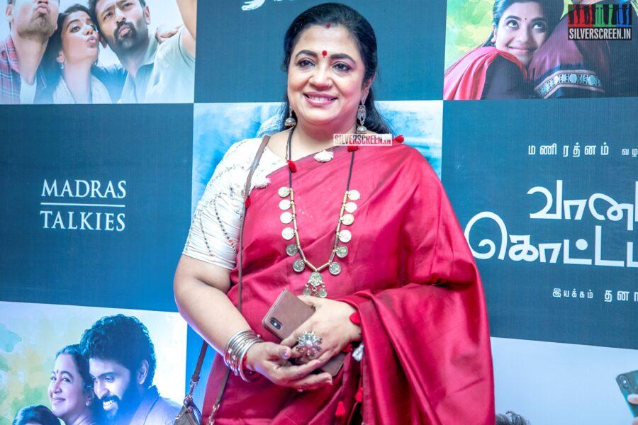 Poornima Bhagyaraj At The 'Vaanam Kottatum' Audio Launch