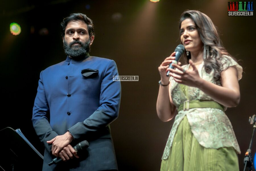 Aishwarya Rajesh and Vikram Prabhu At The 'Vaanam Kottatum' Audio Launch