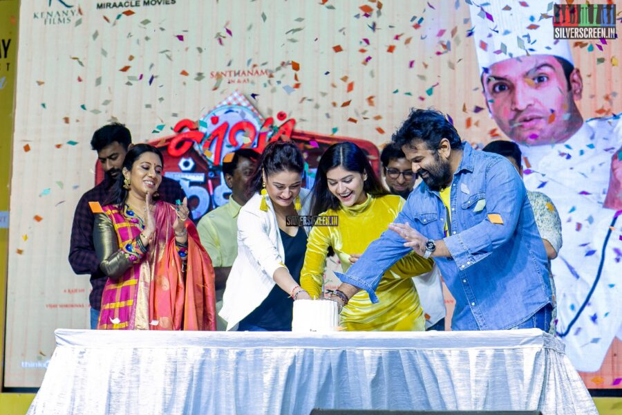 Sonia Agarwal, Vaibhavi Shandilya, Lyricist Vivek At The 'Server Sundaram' Press Meet