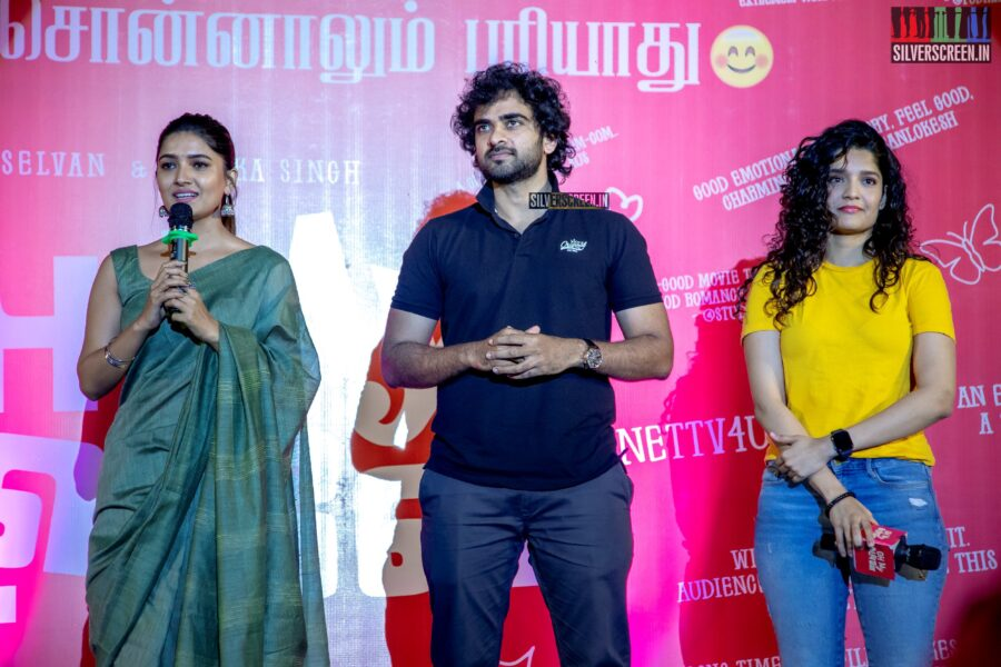 Abinaya Selvam, Ritika Singh, Ashok Selvan At The 'Oh My Kadavule' Press Meet