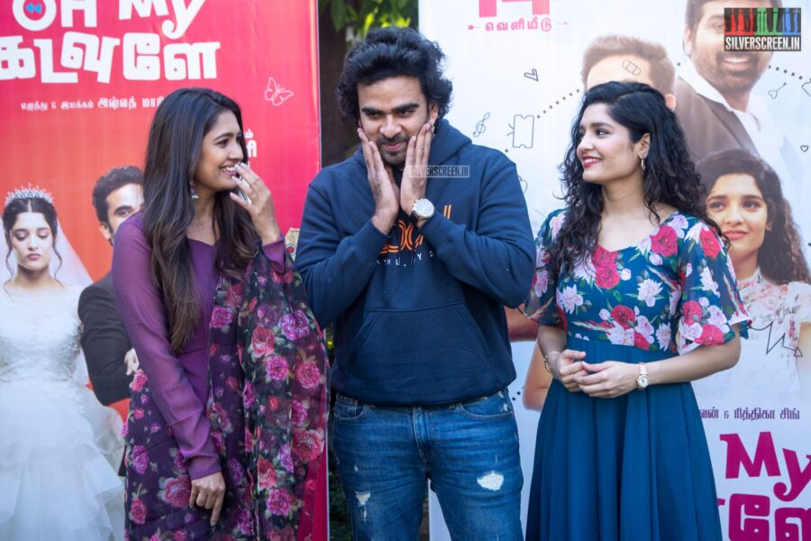 Ashok Selvan, Ritika Singh, Vani Bhojan At The 'Oh My Kadavule' Press Meet