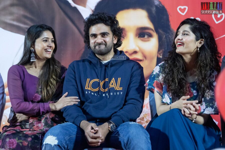 Ashok Selvan, Ritika Singh, Vani Bhojan At The 'Oh My Kadavule' Press Meet