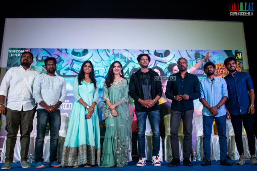 Dulquer Salmaan, Ritu Varma At The 'Kannum Kannum Kollaiyadithaal' Press Meet
