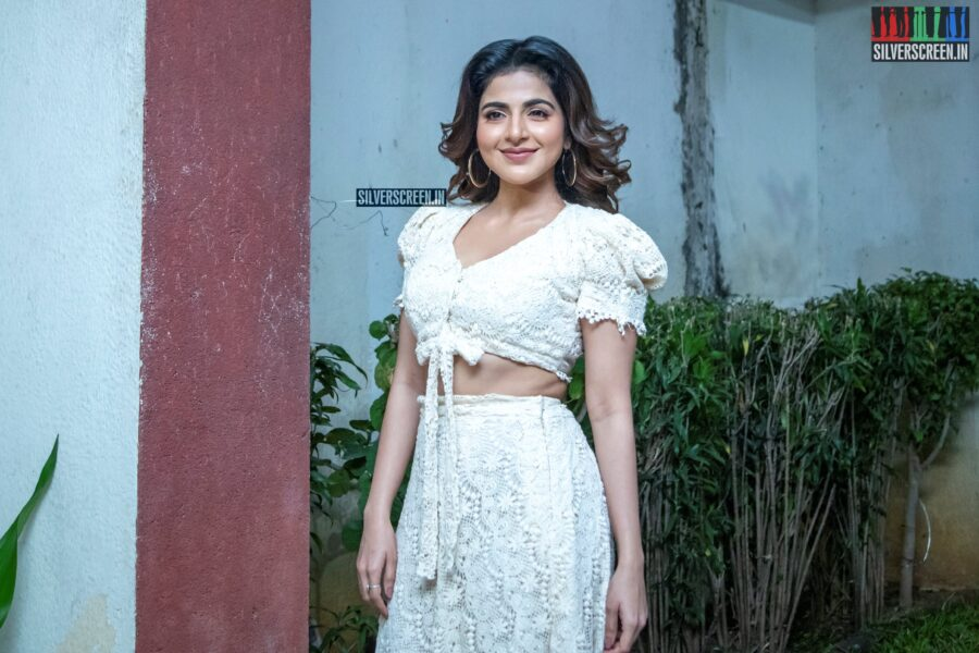 Iswarya Menon At The 'Naan Sirithal' Success Meet