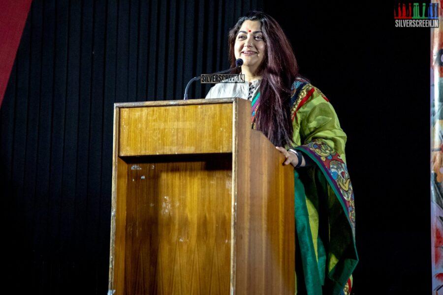 Kushboo At The 'Naan Sirithal' Success Meet