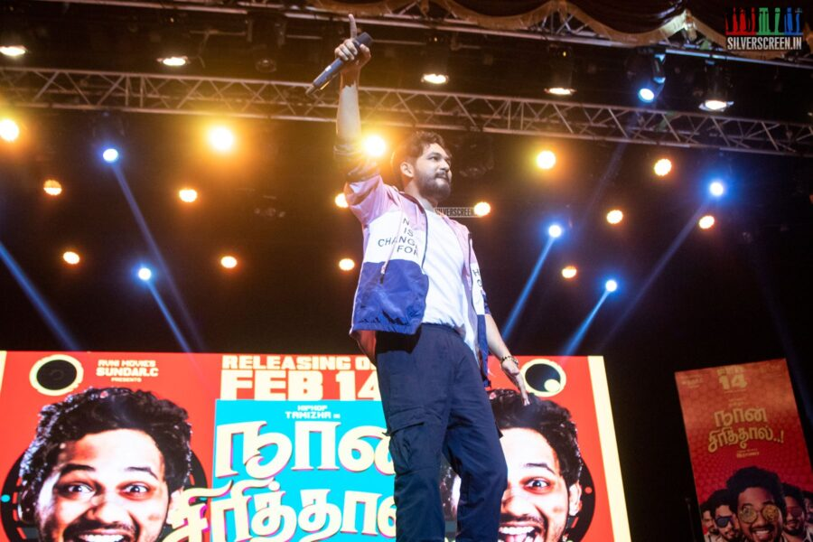 Hiphop Tamizha Aadhi At The 'Naan Sirithal' Audio Launch