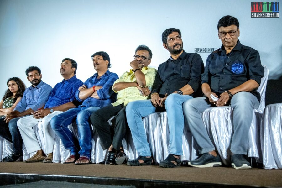 K Bhagyaraj and Suresh Kamatchi At The 'Paramapadham Vilayattu' Press Meet