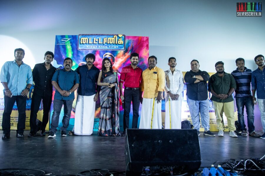 Kalaiarasan, Anandhi At The 'Titanic' Audio Launch