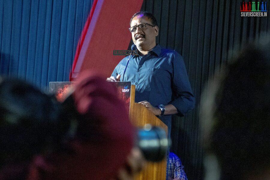 Celebrities At The 'Sangathalaivan' Audio Launch