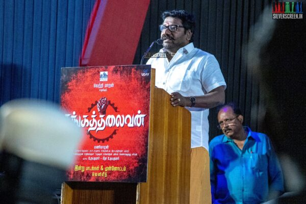 Karunas at the Sangathalaivan Audio Launch