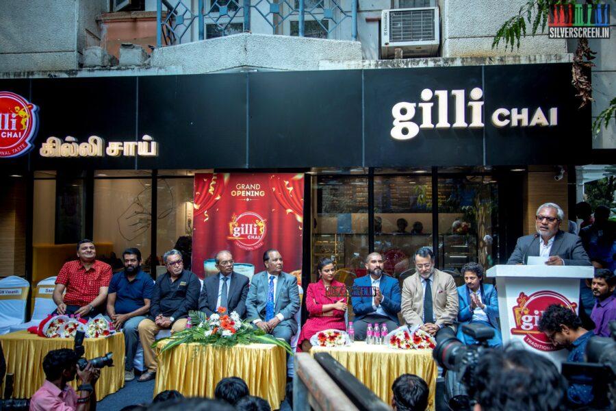 Aishwarya Rajesh, Nasser At The Inauguration Of Gilli Chai