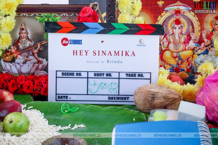 Dulquer Salmaan, Aditi Rao Hydari At The 'Hey Sinamika' Movie Launch