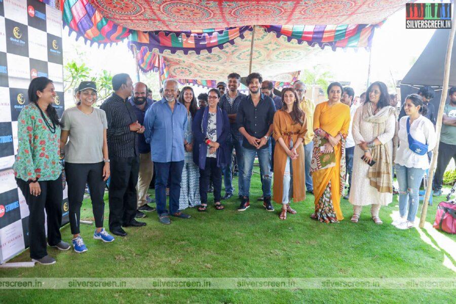 Dulquer Salmaan, Aditi Rao Hydari At The 'Hey Sinamika' Movie Launch