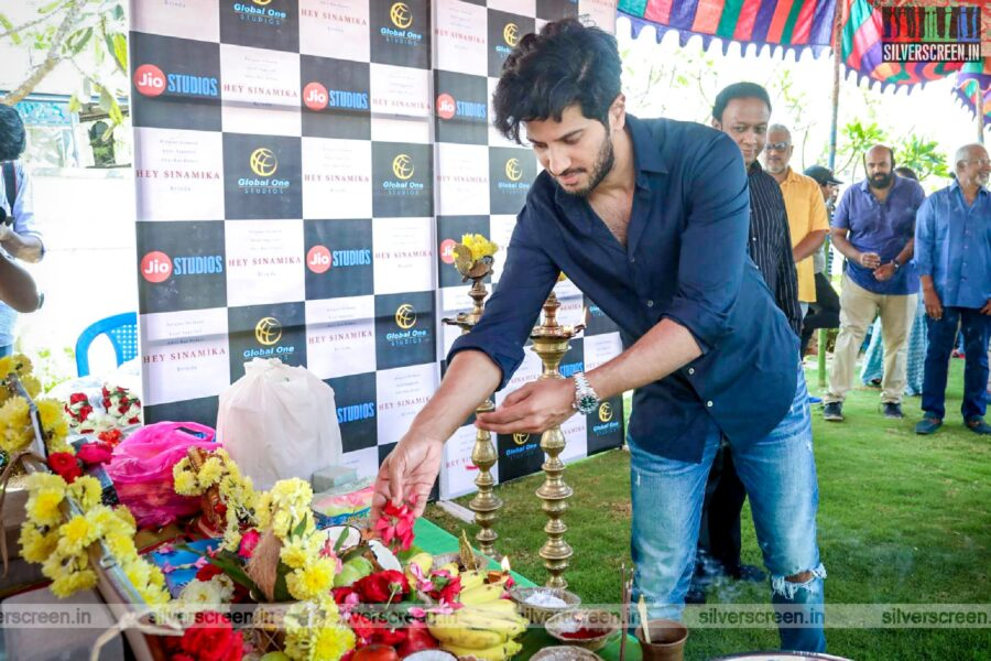 Dulquer Salmaan At The 'Hey Sinamika' Movie Launch