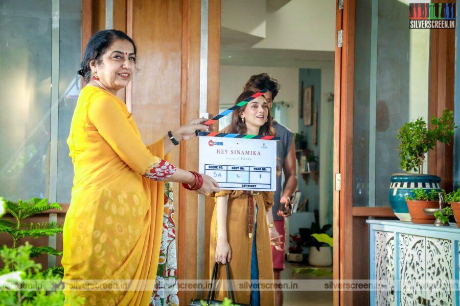 Suhasini Mani Ratnam At The 'Hey Sinamika' Movie Launch