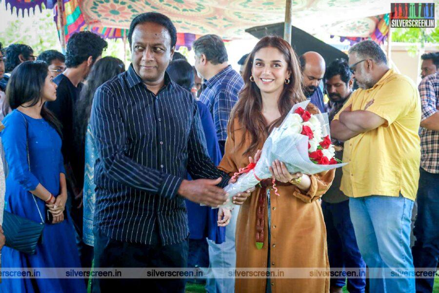Aditi Rao Hydari At The 'Hey Sinamika' Movie Launch